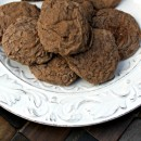 Chocolate-Sour-Cream-Crackle-Cookies-on-Plate