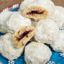 Jam filled Hazelnut Cookies