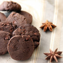 Dark Chocolate Cookies Spiced with Orange and Star Anise