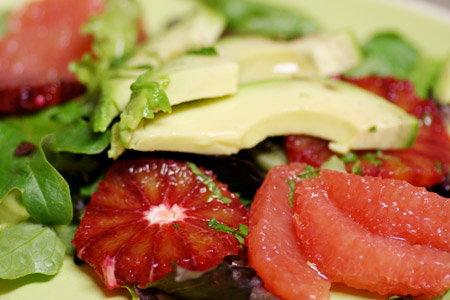 Avocado Grapefruit Salad with Citrus Honey Dressing