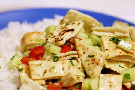 Middle Eastern Pita Salad