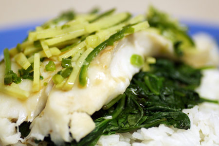 Ginger & Serrano Steamed Roughy