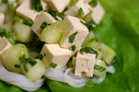 Spicy Lime and Herbed Tofu Lettuce Wraps