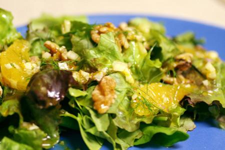 Spring Green Salad with Orange-Fennel Vinaigrette