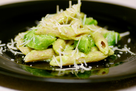 Penne with Sugar Snap Peas