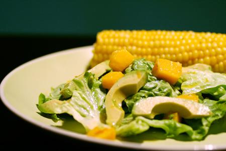 Mango & Avocado Salad with Citrus Dressing