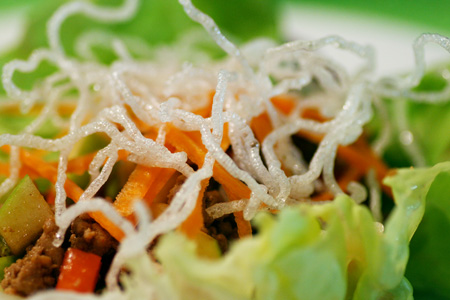 Asian Lettuce Cups with Ground Turkey and Apple