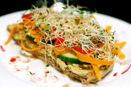 Hummus and Vegetable Sandwiches