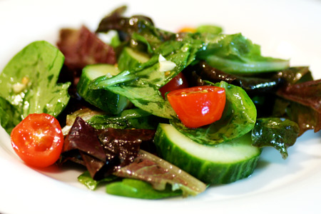 Mixed Salad with Ginger Lime Cilantro Dressing