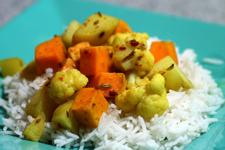 Aloo Gobi with Potato and Cauliflower
