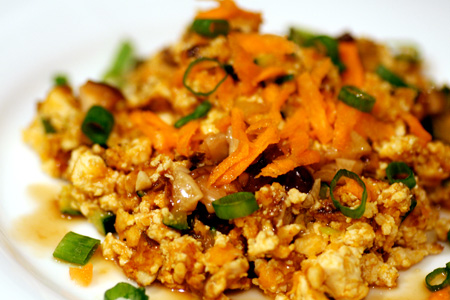Sweet Potato & Shiitake Tofu Scramble