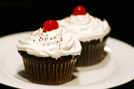 Chocolate Cupcakes with Seven-Minute Frosting