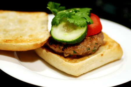 Spicy Salsa Turkey Burgers