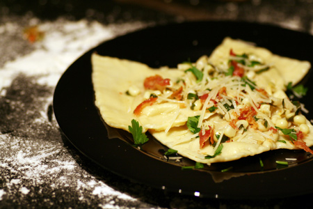 Roasted Vegetable & Pancetta Ravioli