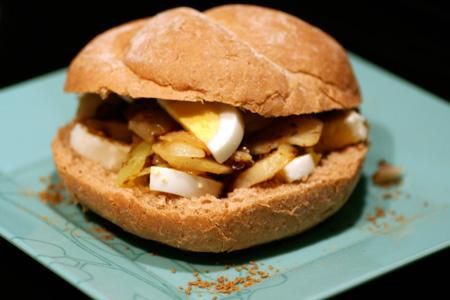 Moroccan-style Potato and Egg Sandwiches