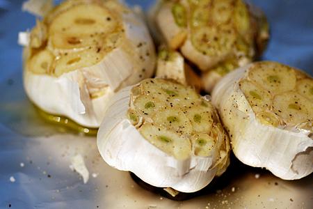 Garlic to be roasted