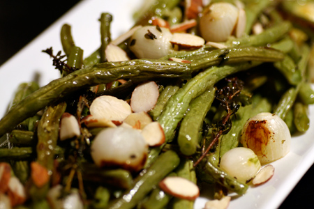 Lemon-roasted Green Beans with Almonds