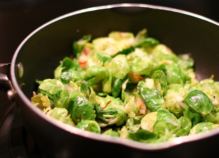 Sautéed Brussels Sprouts with Lemon and Almonds
