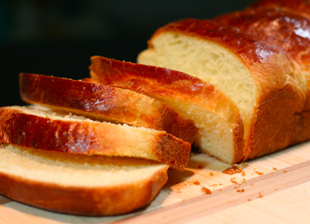 Golden Brioche Bread