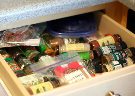 Spice Drawer: Before