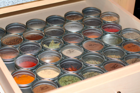 Spice Drawer Storage Solution