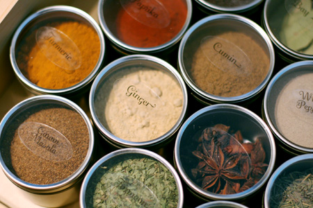 Fancy but Cheap Spice Storage and Pretty Labels