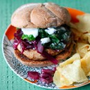 Grilled Portobello Burger with Red Onion Jam