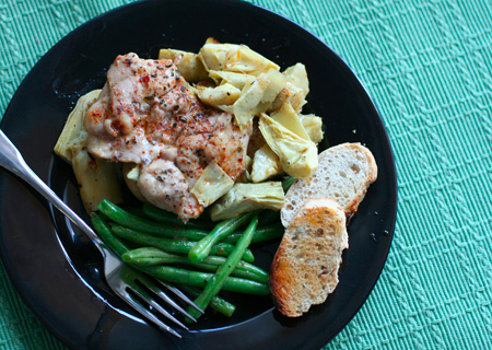 Broiled Chicken and Artichokes