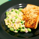 Corn and Edamame Salad with Miso Tofu