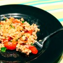 Israeli Couscous with Olives and Roasted Tomatoes