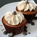 Oatmeal Chocolate Chip Cupcakes with Brown Sugar Buttercream