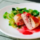 Gorgonzola-Stuffed Chicken Breasts with Strawberry Gastrique