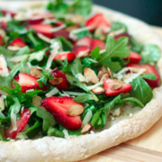 Strawberry Arugula and Goat Cheese Pizza