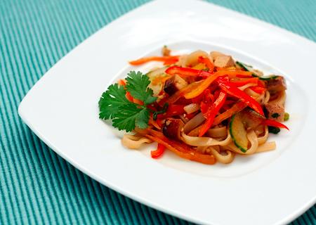 Tofu and Sesame Noodle Salad