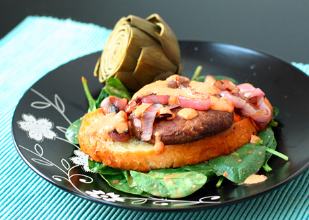 Seeing Double: Portobello Burgers with Roasted Red Peppers ...