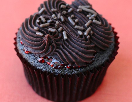 Chocolate Raspberry Truffle Cupcakes