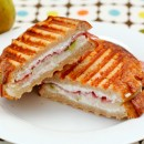 Proscuitto, Pear, and Goat Cheese Panini