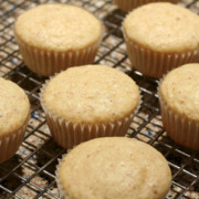 Almond cupcakes baked at high altitude