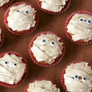 Pumpkin Chip Mummy Cupcakes with Brown Sugar Buttercream