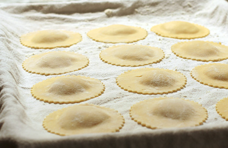 Fresh Pumpkin Ravioli