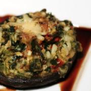 Stuffed Portobello with Balsamic Reduction