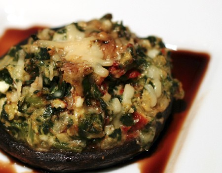 Stuffed Portobello with Balsamic Reduction