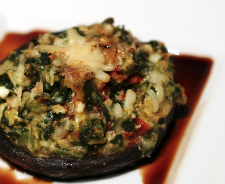 Stuffed Portobello With Balsamic Glaze Love And Olive Oil