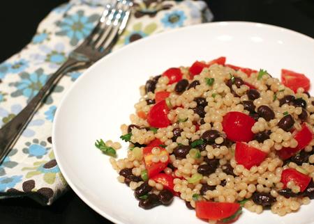 Black-Bean and Tomato Israeli Couscous