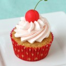 Almond Cupcakes with Sweet Cherry Filling