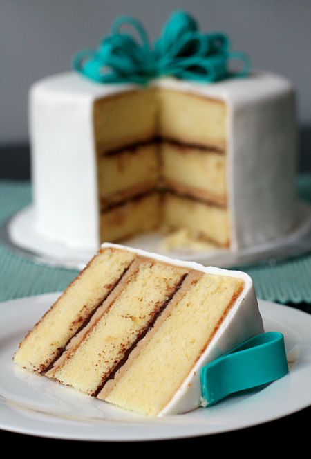 Vanilla Cake with Tiramisu Buttercream and Ganache Filling Love