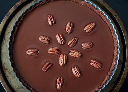 Mexican Chocolate Tart with Cinnamon-Spiced Pecans
