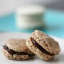 Coffee Macarons with Bittersweet Ganache Filling