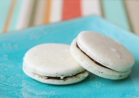 Almond Macarons with Bittersweet Ganache Filling