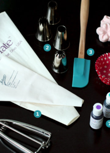 The Tools for Decorating Cupcakes